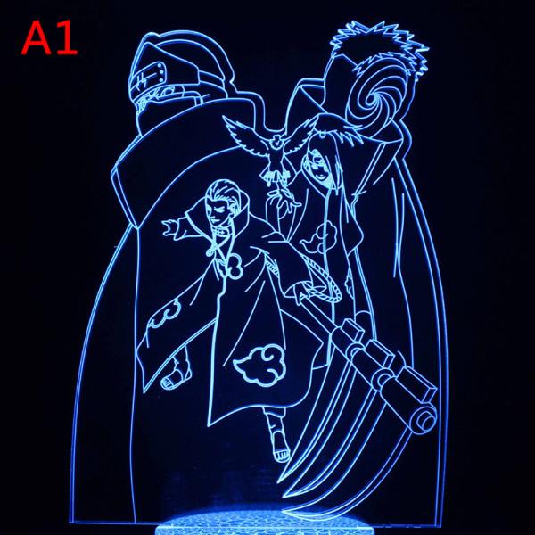 Anime Naruto Uzumaki Led Night Light Team 7 Sasuke Kakashi Hata