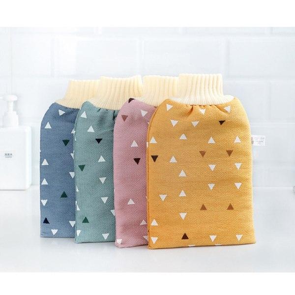 bad för peeling exfolierande mitthandske dusch skrubbhandskar tillbaka Yellow