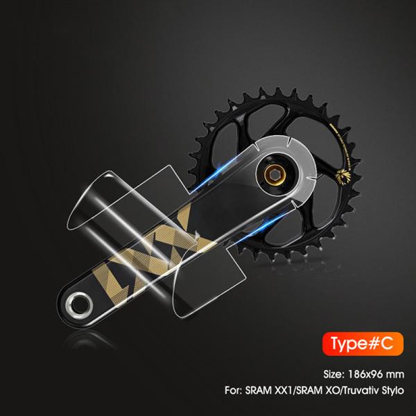 Bike Crank Skyddsfilm Kolfiber Universal Tandplatta C