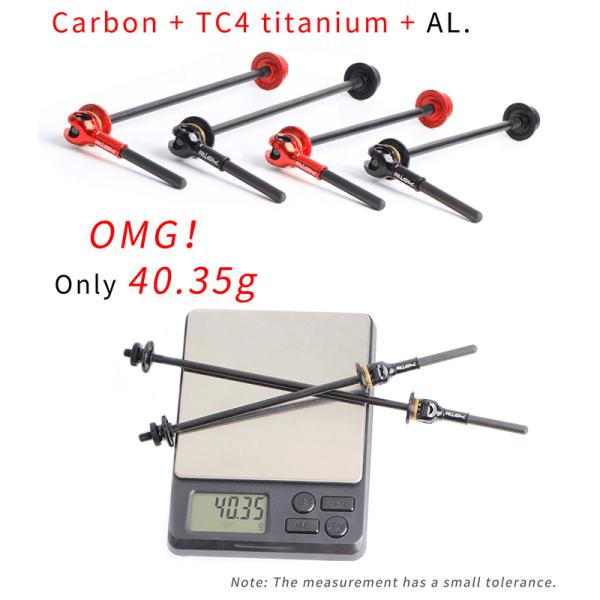 Bike Titanium Alloy Quick Release Road Wheel Set Hub Rod Carbon