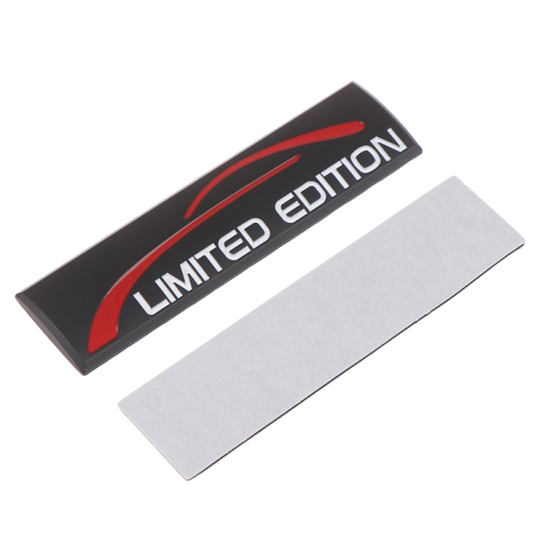 bil styling 3d metall bil klistermärke krom limited edition logo sti Black