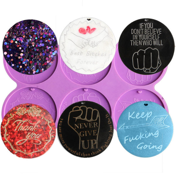 blank cirkel epoxiharts telefon grepp badge rulle formar rund lett Purple