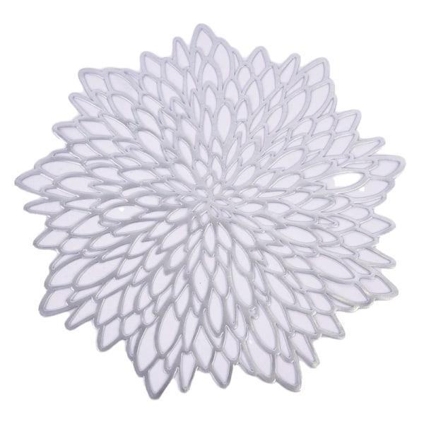 bordsskivor blommformade ihåliga vattentäta halkfria bordsmattor Silver C