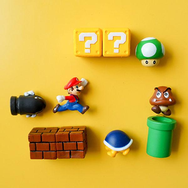 Klassisk 3D Super Mario Kylskåp Stark kylmagnet Sticke