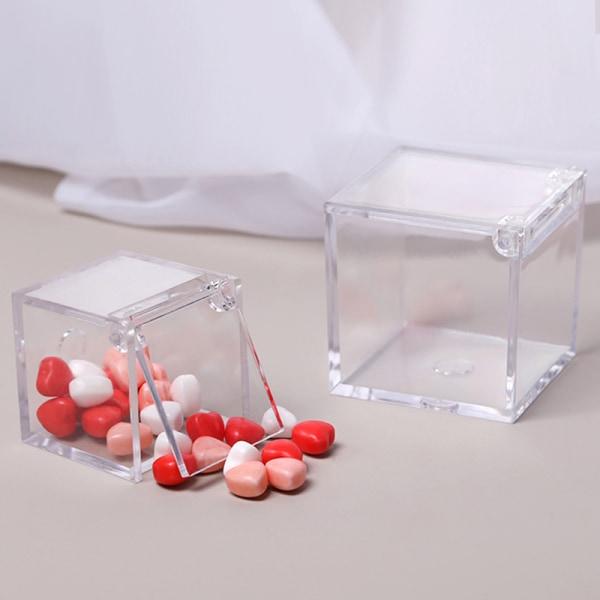 Klar DIY bröllop presentförpackning Baby Mini Transparent godis