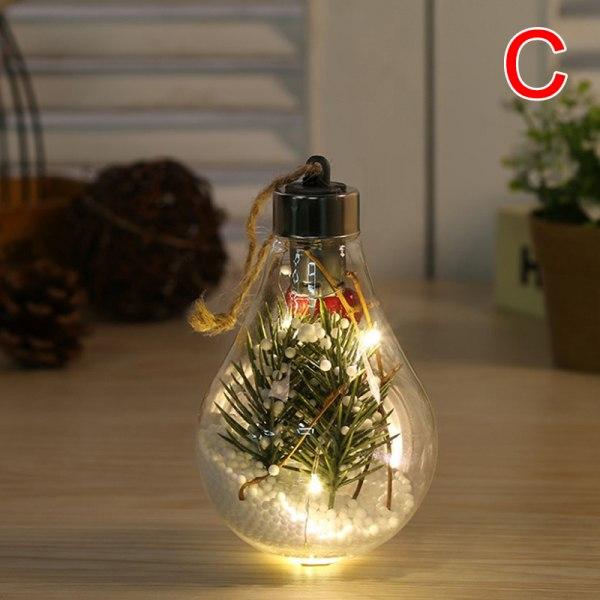 Klar LED-ljus kulbollar sfärfyllbar julgran Orn