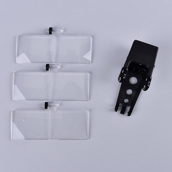 clip-on glasögon kikare förstoringsglasögon med 3 linser 1