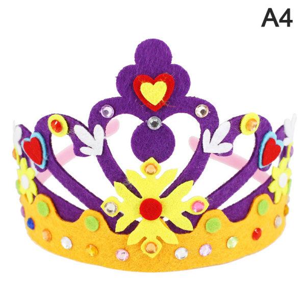 Creative Crown DIY Crafts Toy Paper Paljetter Stjärnmönster Barn T