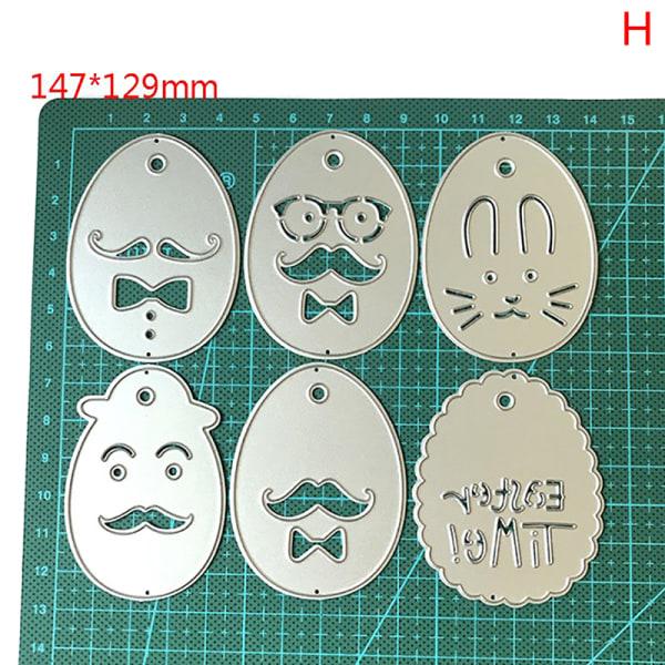 Påskkanin Bunny Egg Metal Cutting Dies Stencils för scrapbo