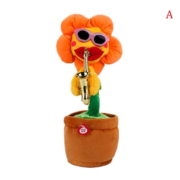Elektriska leksaker som sjunger och dansar blommasolrosor som spelar Saxo