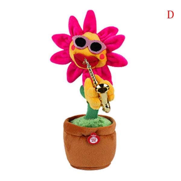 Elektriska leksaker som sjunger och dansar blommasolrosor som spelar Sax