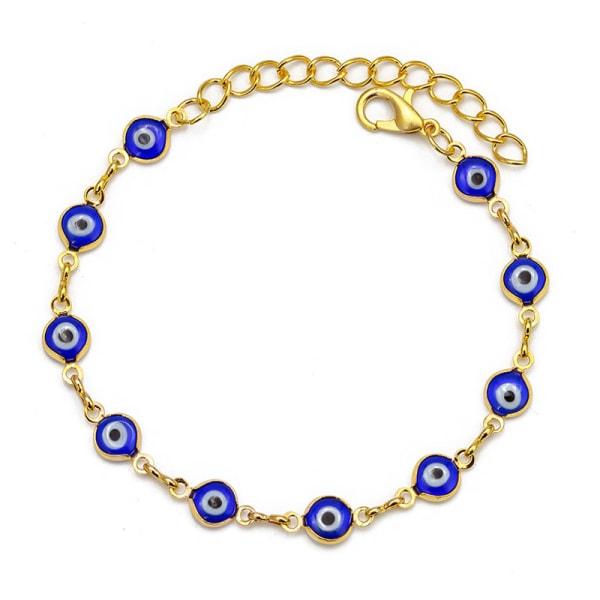 Evil Eye Lucky Eye Bead Chain Armband för kvinnor Smycken Charms