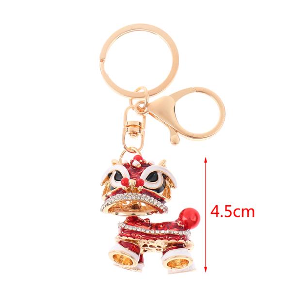 festival kristall roterbar lejon dans bil nyckelring väskor Red