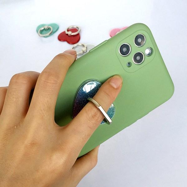 Fingerring Hjärtform Mobiltelefonhållare Smartphone Stativ Ho