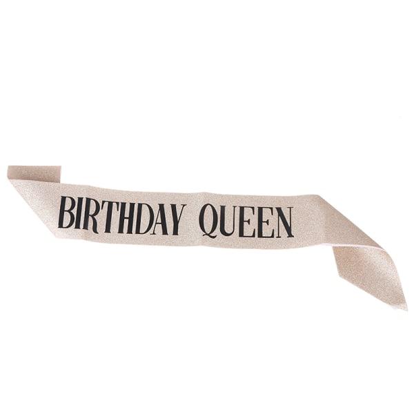 födelsedagsflicka kvinnor Grattis på födelsedagen satängfönster favor anniversar Gold queen