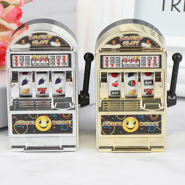 Rolig Mini Slot Fruit Machine Machine Lucky Jackpot Antistress Toy