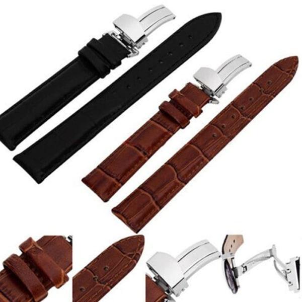 Äkta läderklockband 12mm-22mm klockarmband Armbandsur