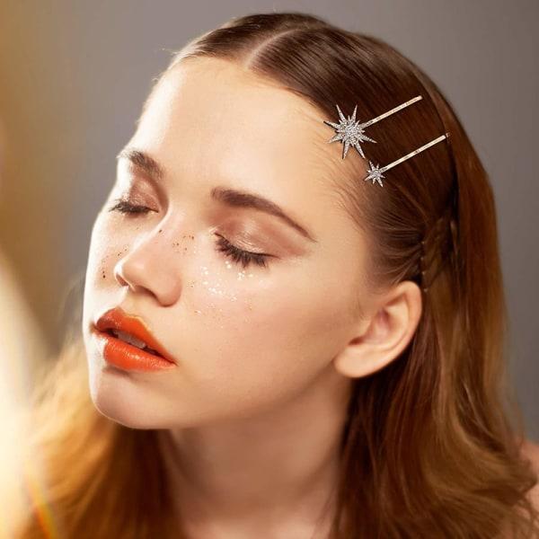Geometrisk Star Moon Shape HairClip pannband Crystal Hair Accesso