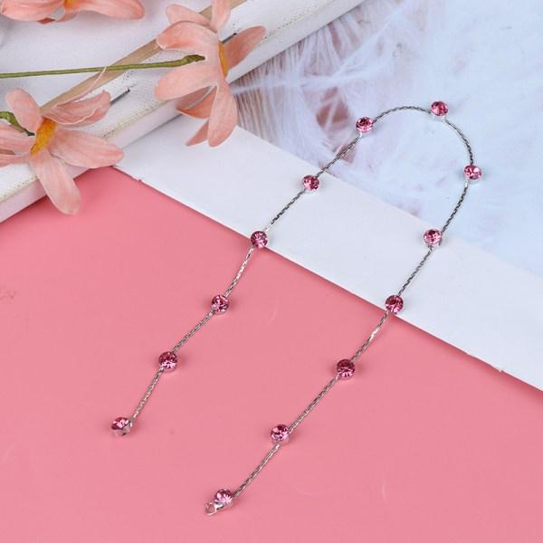 Flickahårflätning Rhinestone Glitter Smycken Chain Stra