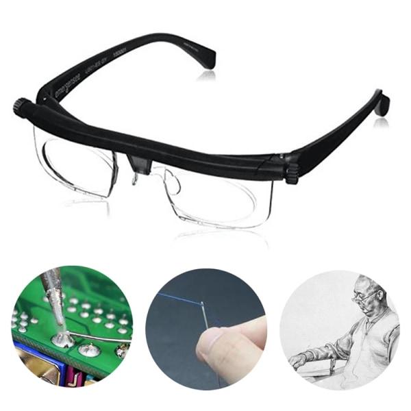 Glasögon Justerbar styrka Lins Glasögon Variabel Focus Protecti