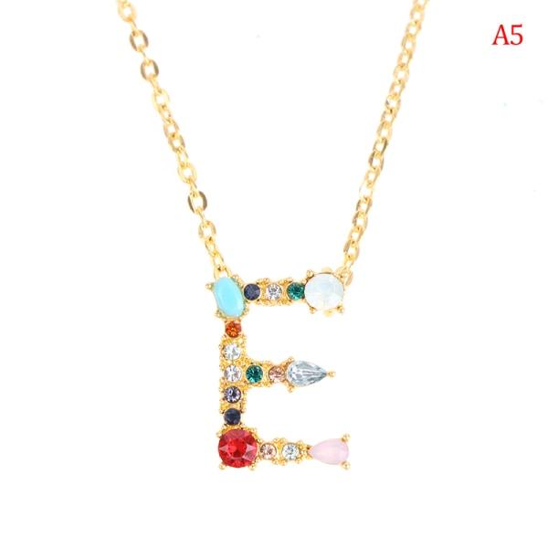 Guldfärg Initial Halsband Charm Letter Namn Smycken För Girlfr