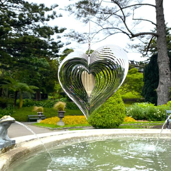 hjärta vind spinner slå vindfångare för trädgård trädgård dekor ou onesize