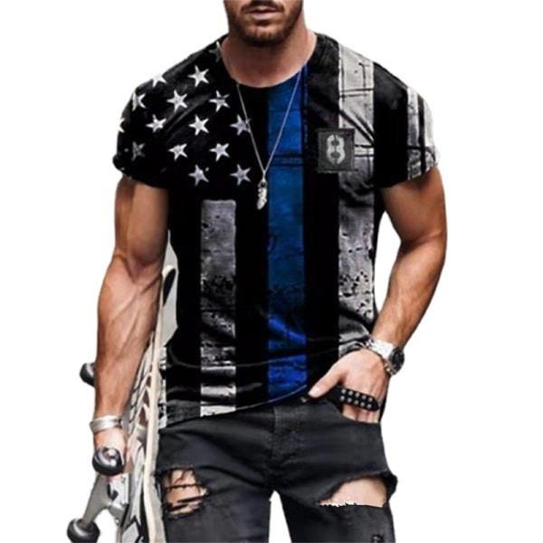 herr personlighet t-shirt sommar t-shirt kortärmad 3d-tryck D M