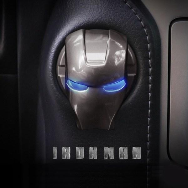Iron Man Car Interior Motor Tändning Start Stop Tryckknapp Swi
