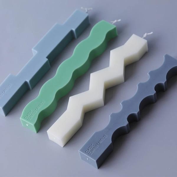 oregelbunden formad remsa ljus silikonform heminredning ljus ba C