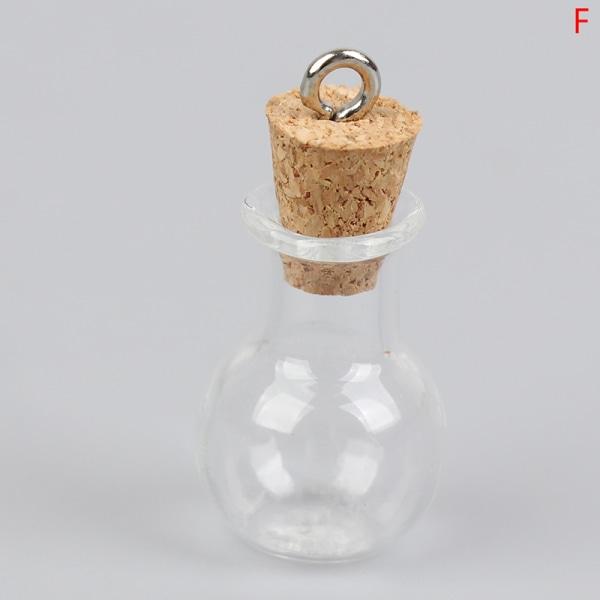 korkpropp mini tom glasflaska små glasburkar med kork d F