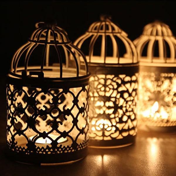 lantern votive ljusstake hängande lantern vintage ljusstake D