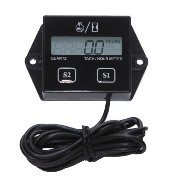 LCD Digital Engine Tach Hour Meter Gauge för racing motorcykel B
