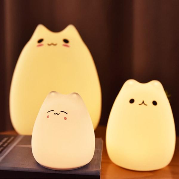 Little Cat Touch Sensor Control LED Night Lights Soft Silikon D