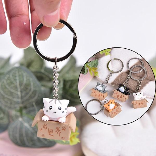 Härlig tecknad kattnyckelring kedja hängande prydnad för väska Ca