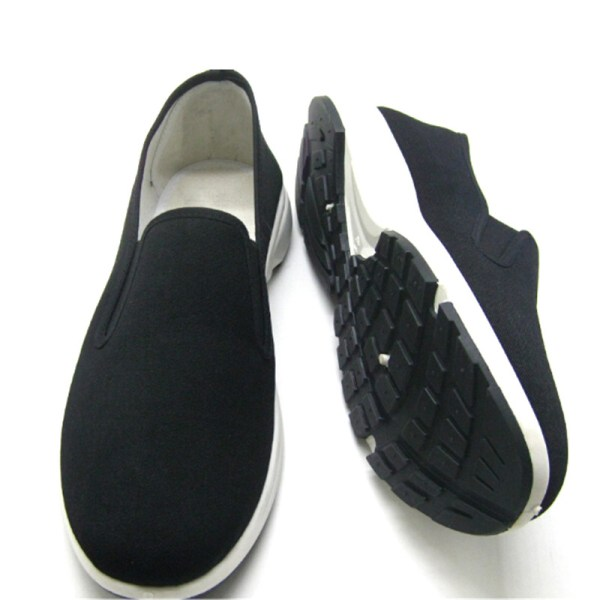 Män Slip On Loafers Canvas Fritidsbåtskor Flats Sneakers Dri