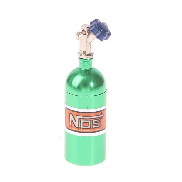 metallsimulerad nos kväveflaska för 1/10 rc bil trx4 rc4wd d Green