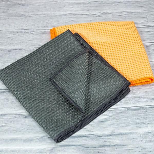 mikrofiber biltvätt handduk glas rengöring polering våffla väv B