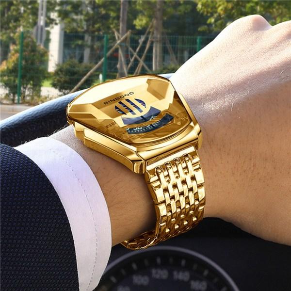militär sport klocka män guld armbandsur klocka casual chronog A
