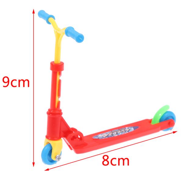 mini scooter hjul scooter barns pedagogiska leksaker finger sc Red