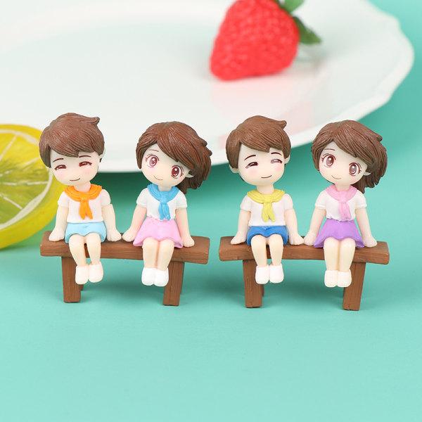 Mini pall dockor Fairy Garden Miniaturer Dekor Dollhouse