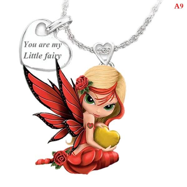 mode härlig älva prinsessa hänge kvinnors halsband flicka hals A9
