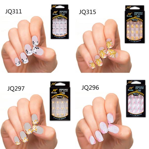 Nya 24st falska naglar franska falska naglar för Nail Art Design Nai