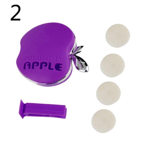 Ny söt Apple Shape Car Air Conditioning Vent Parfym Air Fres