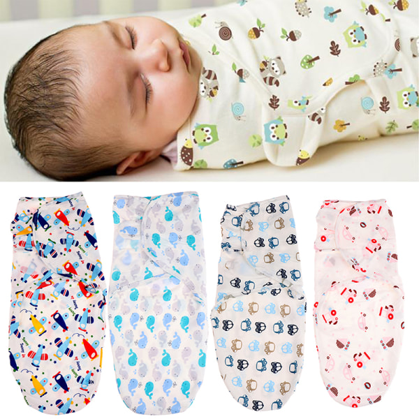 Nyfödd Baby Swaddle Wrap Cotton Soft Infant filt & Swaddlin