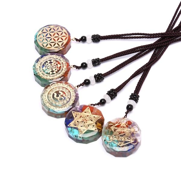 orgonite hänge om halsband chakra healing energi meditation je N1