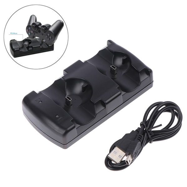 PS3move / PS3 controller laddare USB Dual Charger för Sony PS3 Co