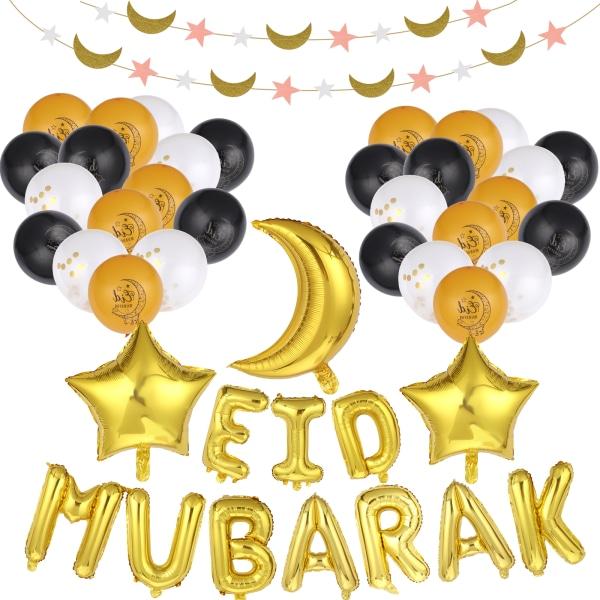 Ramadan Party Banner Eid Mubarak Printing Latex Ramadan Balloons