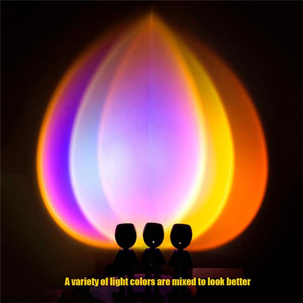 Robot Sunset Projektorlampa Rainbow Led Night Light för hemsäng