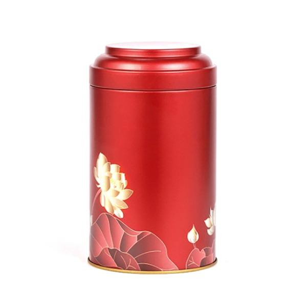 rund tennplåt med tätningsskikt, lämplig för te, snacks, Red