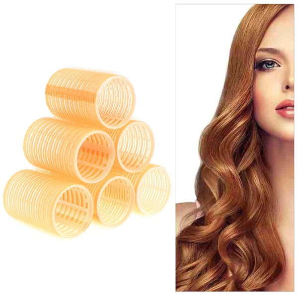 Självgreppsrullar Cling Stick Hair Curler Curls Wave Styling Sal